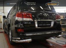 Защита заднего бампера Lexus LX570 Sport (уголки) d76/42 2014+/арт.670-4