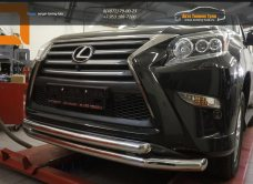 Защита переднего бампера Lexus GX460 (2014-) (двойная) d76/60/арт.300-19