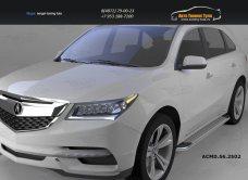 Пороги алюминиевые (Opal) Acura MDX 2014+/арт.749-2