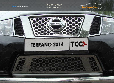 Решетка радиатора верхняя и нижняя лист Nissan Terrano 2014 /арт.144-26