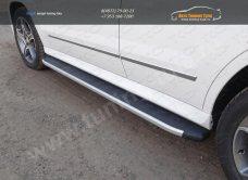 Пороги алюминиевые с пластиковой накладкой MERCEDES-BENZ GLK 220 CDI 4MATIC 2014+/арт.748-5