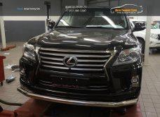 Защита переднего бампера Lexus LX570 (одинарная) d76 2014+/арт.670-7