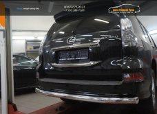 Защита заднего бампера Lexus GX460 (2014-) (одинарная) d76/арт.300-17
