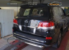 Защита заднего бампера Lexus LX570 Sport (одинарная) d76 2014+/арт.670-3