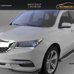 Пороги алюминиевые (Alyans) Acura MDX 2014+