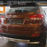 Защита заднего бампера Hyundai IX-35 (2009-) (двойная) d60/60