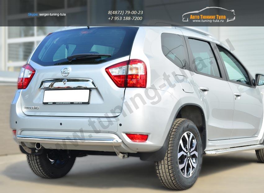 Nissan Terrano 2014-  Защита заднего бампера d63 (дуга)  / арт.144-34