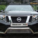 Защита передняя (кенгурин с решеткой) 60,3/12 мм для Nissan Terrano 2014+
