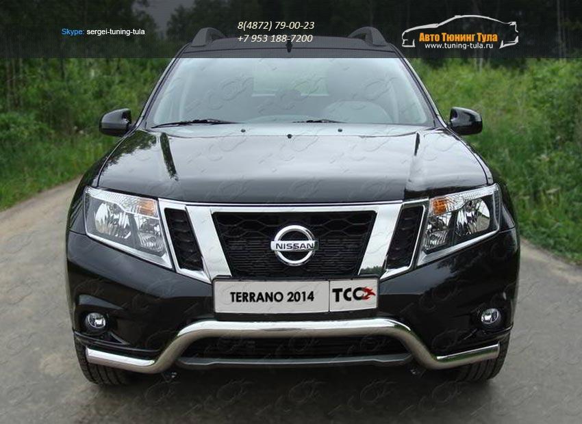 Защита передняя (кенгурин) 60,3 мм  Nissan Terrano 2014+/арт.144-21