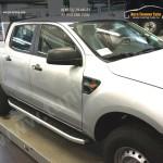 Пороги алюминиевые (Alyans) Ford Ranger 4 дв 2012+