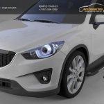 Пороги алюминиевые (Onyx) Mazda (Мазда) CX5 (2012-)