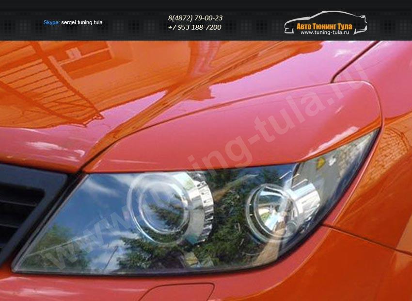Накладки фар передние/ресницы широкие Opel Astra Н 3-5дв./арт.104-2