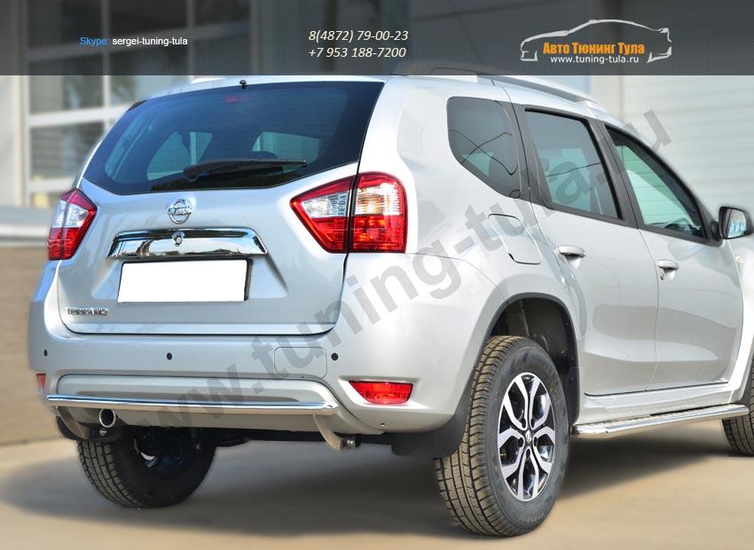 Nissan Terrano 2014-  Защита заднего бампера d42 (дуга)/ арт.144-36