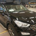 Пороги алюминиевые (Alyans) Hyundai Santa Fe (Хёндай Санта Фе) (2012-/2013-)