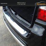 Накладка на задний бампер лист зеркало Nissan Terrano 2014