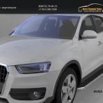 Пороги алюминиевые (Ring) Audi (Ауди) Q3 2011+