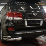 Защита заднего бампера Lexus LX570 Sport (уголки) d76/42