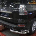 Защита заднего бампера Lexus GX460 (2014-) (уголки) d76/42