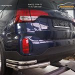 Защита заднего бампера Kia Sorento (Киа Соренто) (2012-) (уголки) d60/42
