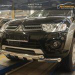 Защита переднего бампера Mitsubishi Pajero (Митсубиши Паджеро) Sport (2008-)/L200 (2014-) d76