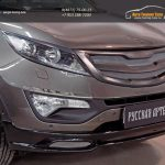 Решетка радиатора Sport вар.2 КИА Спортаж 3/Тюнинг Sportage 3 2014+