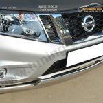 Nissan Terrano 2014- Защита переднего бампера d75х42 (дуга) d75х42 (дуга)/ арт.144-39