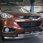 Защита переднего бампера Hyundai IX-35 (2009-) (двойная) d60/60