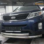 Защита переднего бампера Kia Sorento (Киа Соренто) (2012-) (двойная) d60/60