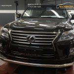 Защита переднего бампера Lexus LX570 (одинарная) d76
