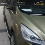 Пороги алюминиевые (Alyans) Ford Kuga 2013+
