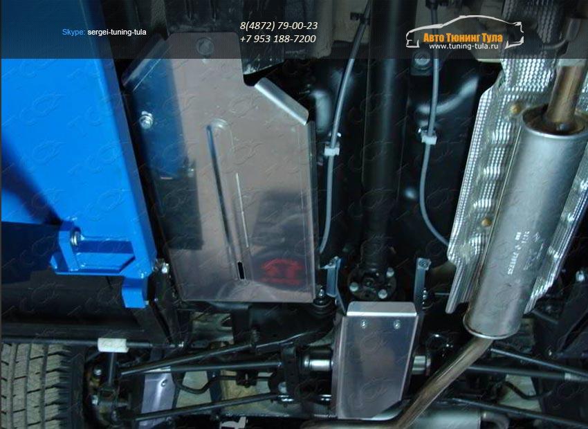 Защита топливного бака+защита дифференциала (алюминий) 4 мм Nissan Terrano 2014 /арт.144-35