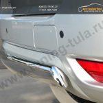 Nissan Terrano 2014-Защита заднего бампера d75х42 (дуга)/ арт.144-35