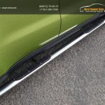 Пороги овальные с накладкой 75х42 мм KIA SOUL 2014+