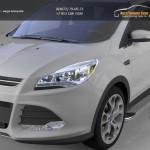 Пороги алюминиевые (Opal) Ford Kuga 2013+