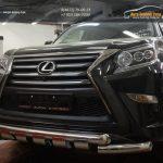 Защита переднего бампера Lexus GX460 (2014-) (двойная Shark) d76/60