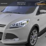 Пороги алюминиевые (Ring) Ford Kuga 2013+