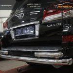 Защита заднего бампера Lexus LX570 (2014-) (двойная) d76/60