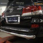 Защита заднего бампера Lexus LX570 (одинарная) d76