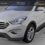 Пороги алюминиевые (Ring) Hyundai Santa Fe (Хёндай Санта Фе) (2012-/2013-)