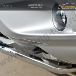 Nissan Terrano 2014-  Защита переднего бампера d42 (волна) под машину/арт.144-40