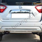 Nissan Terrano 2014-  Защита заднего бампера d42 (дуга) d42 (дуга) декор паз
