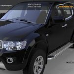 Пороги алюминиевые (Opal) Mitsubishi L200 (2006-2013 / 2014-)