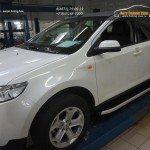 Пороги алюминиевые (Alyans) Ford Edge 2014+