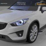 Пороги алюминиевые (Opal) Mazda (Мазда) CX5 (2012-)