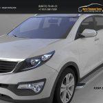 Пороги алюминиевые (Opal) Hyundai IX-35 2009+/ Kia Sportage Киа Спортаж III 2010+