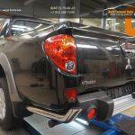 Защита заднего бампера Mitsubishi L200 (2014-) (уголки) d76