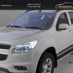 Пороги алюминиевые (Ring) Chevrolet TrailBlazer 2013+