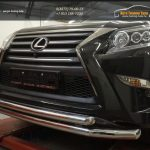 Защита переднего бампера Lexus GX460 (2014-) (двойная) d76/60