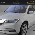 Пороги алюминиевые (Opal) Acura MDX 2014+