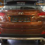 Защита заднего бампера Hyundai IX-35 (2009-) (одинарная волна) d60
